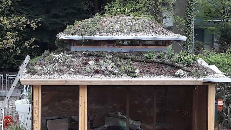 Originalios pavėsinės stogas